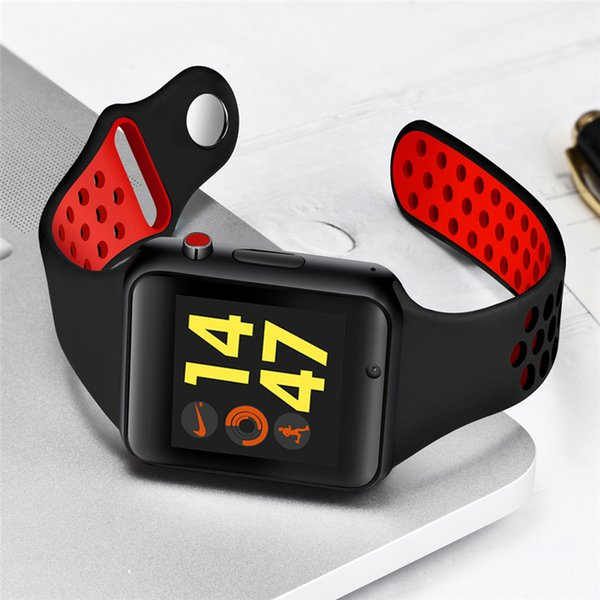 2018 Bluetooth Smart Watch with Touch Screen Support Smartwatch TF Sim Card Camera for Android Phone Men Passometer Wearable