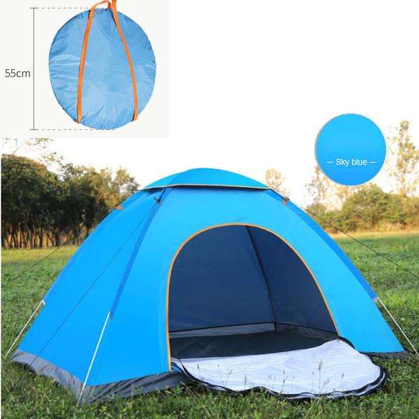 Schnelle automatische offene Zelt Instant tragbare Strandzelt Shelter Wandern Camping Anti-UV-Familie Camping Zelte für 2-3 Personen
