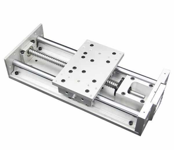 Linear Guide Stage Cross Slide Electric Sliding Table L-300mm Ballscrew Working Table For CNC Milling Engraving Drilling Machine