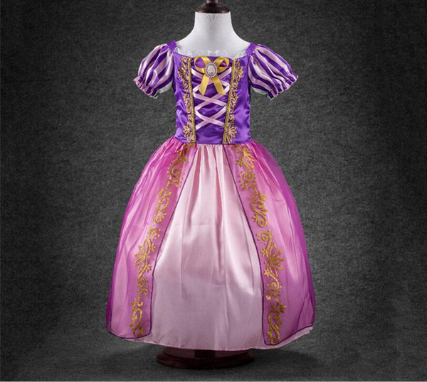 Age 2-12 yrs Princess Girls Cinderella Dress Children Clothing Snow White Dress Rapunzel Aurora Kids Cosplay Costume Clothes