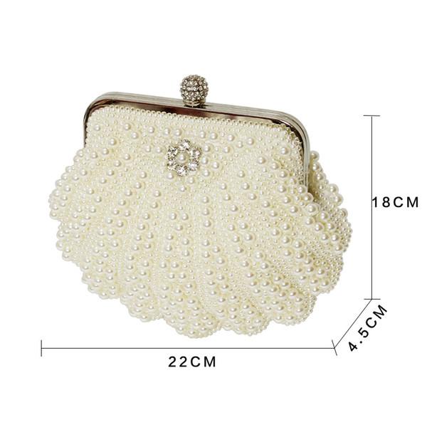 Beautiful Women Crystal Evening Clutch Bag Rhinestone Wedding Purse Party Handbag Lady clutches Diamond Pearl Beads Female Chains Bag