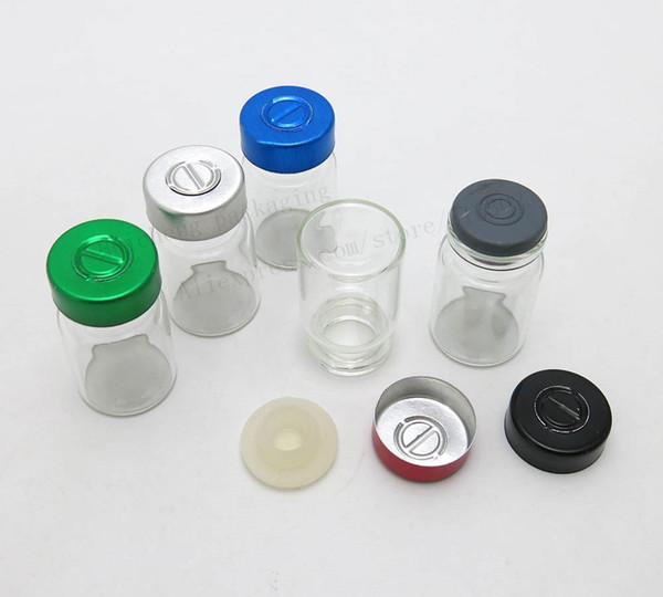 Frascos de cristal claros de los frascos de 100 x 6ML pequeños Tarros con el aluminio rasga apagado el casquillo vidrio de cuidado de la piel 1 / 5oz