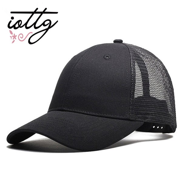 IOTTG 2018 New Casual Baseball Cap Female Snapback Trucker Blank Mesh Visor Hat Outdoor Sports Sun Hats Cap For Men And Women