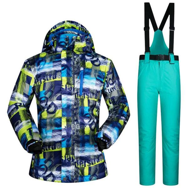 -30 Degree Warm Up Men Snowboard Ski Jackets Pants Suit Male Snow Coats Man Sports Skis Wear Men's Skiing Clothing Waterproof