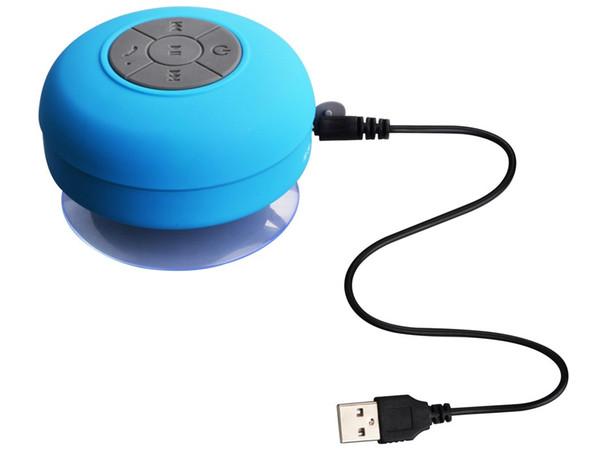 Protable Mini BTS-06 Haut-parleurs Bluetooth étanche en silicone mains libres Microphone Mic aspiration sans fil Bluetooth MP3 Haut-parleur d'usine directement