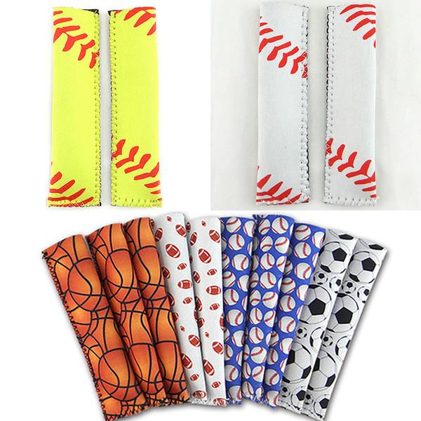 best selling 15*4cm Popsicle Holders Pop Ice Sleeves For Baseball Hockey Stick Freezer Pop Holders For Softball Football Chevron Flower Style WX9-544