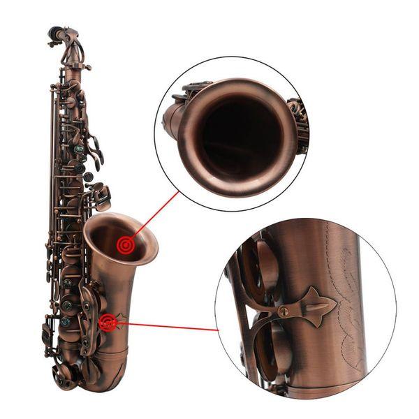 Альт-медь саксофон высококачественный красный медь античный Альт-саксофон профессиональный духовой музыки оптом