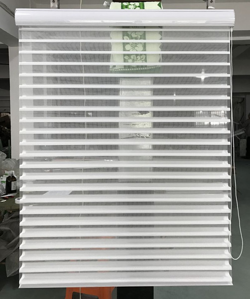 Custom Made Translucent Shangri-la Blinds in White Window Curtains for Living Room 10 Colors