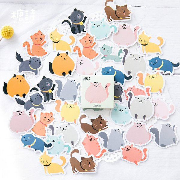 1pcs Memo Pad NotDiary of Stickers Notepad Colored Fat Cat Paper Note Book Replaceable Stationery Gift Traveler Journal