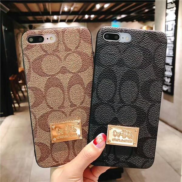 2018 NOUVEAU Designer Mobile Phone Case pour IPhoneX IPhone8 7 7 plus 6 6 s ainsi que de luxe C Style Phone Shell Shell