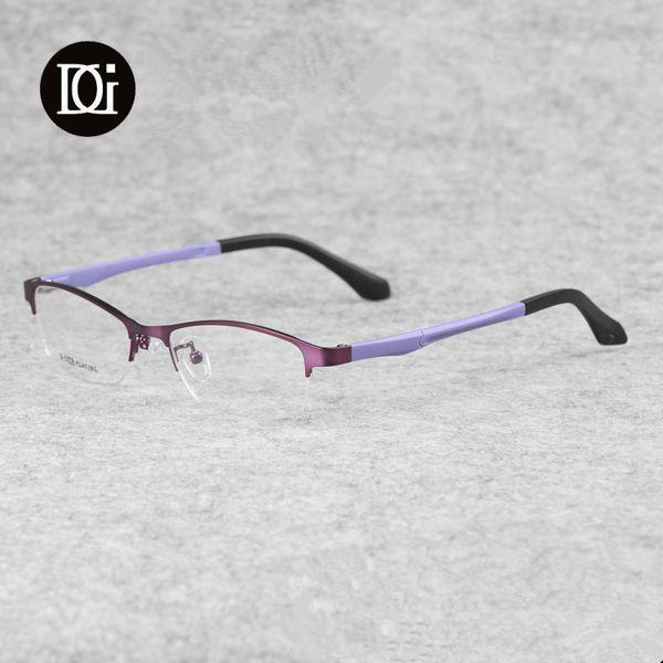 Mode titane femmes lunettes semi-sans monture affaires lunettes optiques monture lunettes de prescription 9802
