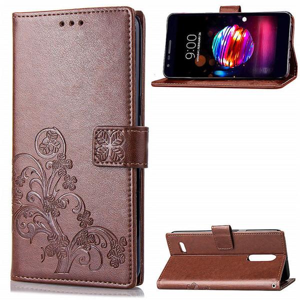 Флип кожаный бумажник Case для LG K8 2018 X Power3 Stylo 4 Противоударный телефон case роскошный кошелек Case флип стенд крышка розничная упаковка