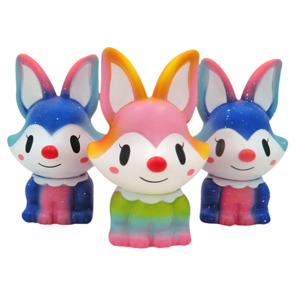 2018 New Jumbo Cartoon Foxes Squishy Toys Cute Simulation Foxes Slow Rising Cream Scented Squeeze Toys for Kids Doll Toy Gifts