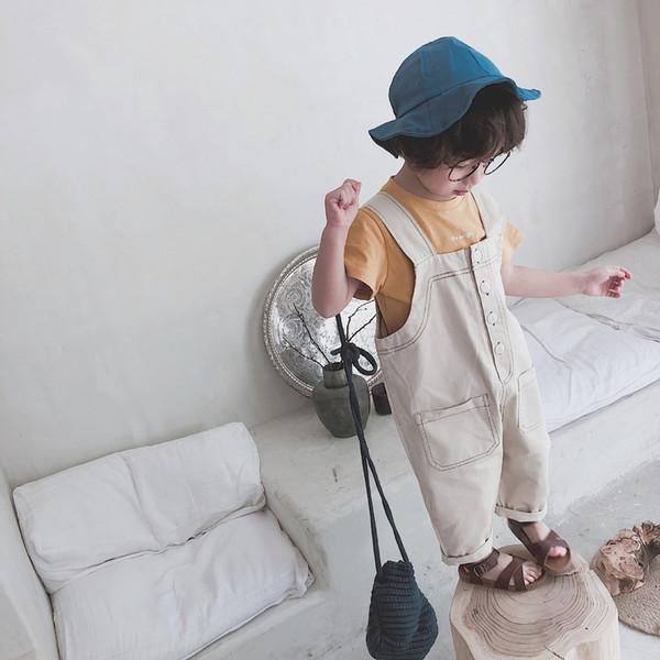 Enfants Vêtements Survêtement Pantalon 2018 Nouveaux Enfants Garçons Salopette Pantalon Fille Pantalon Enfants Pantalon De Mode Bébé Suspender Cappris