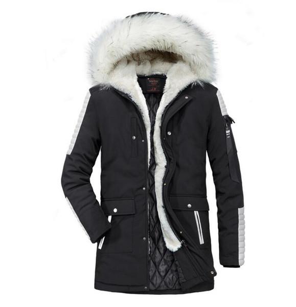 2018 Giacche da uomo con cappuccio Trench Parka Giacche Solid Abbigliamento Autunno Inverno Cerniera a maniche lunghe Cappotto Giacca a vento Cappotto allentato casual