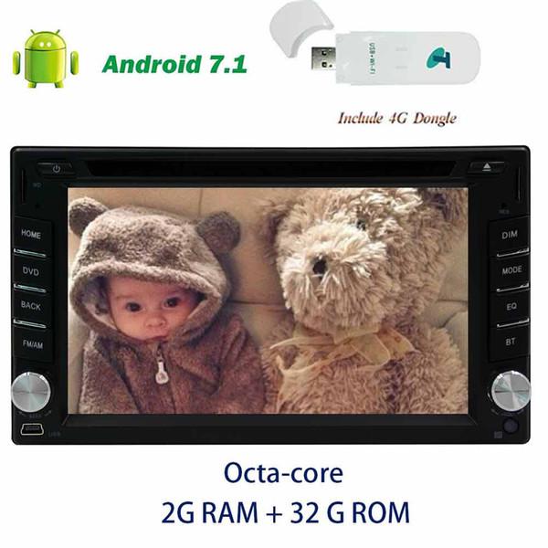 4G dongle+Android 7.1 Car Stereo car DVD player Octa-core car audio in Dash 6.2'' on-board computer GPS Navigation Digitalin dash Headunit