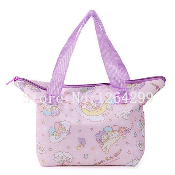 New Fashion Little Twin Stars Girls Woman Small Cartoon Theraml Lunch Cooler Bags Kids Handbags For Children