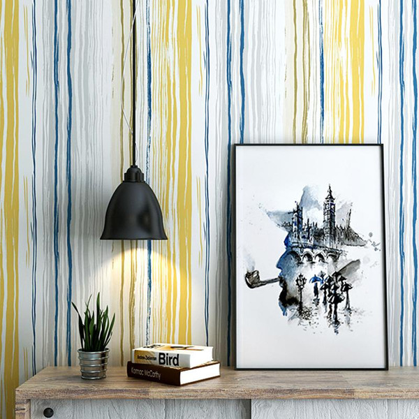 Nordic Style 3d Colored Vertical Striped Wallpaper For Walls Study Living Room Sofa Tv Background Home Decor Wall Paper Rolls Thanksgiving Wallpaper