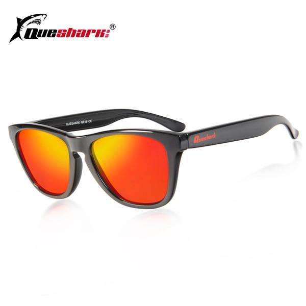 85e1f49767ed2 QUESHARK Quadrado Quadro Ciclismo Eyewear Das Mulheres Dos Homens  Polarizados Óculos De Sol Pontos de Revestimento