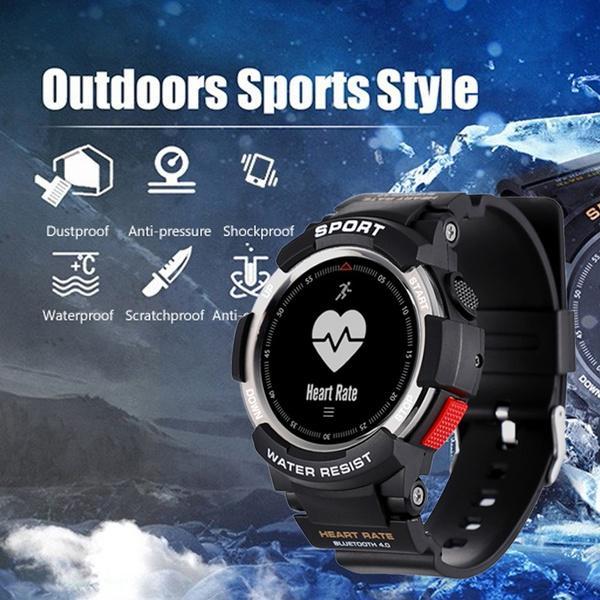 F6 Waterproof GPS Smart Watch Colorful Screen Bluetooth smart bracelet Blood Pressure Heart Rate Wristwatch 30m Waterproof