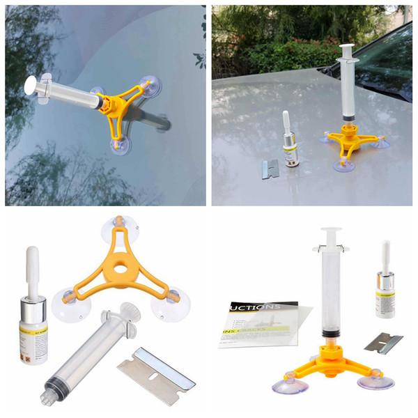 Set di strumenti di riparazione parabrezza parabrezza kit di riparazione del vetro del vento auto strumento fai-da-te per chip crack AAA205