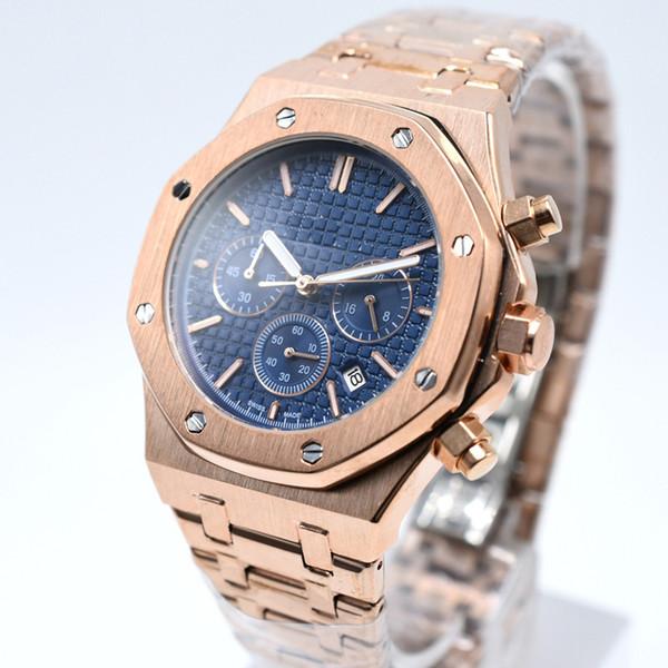 2018 New Famous Watches Men Top Luxury Brand Sports Chronograph Quartz Military watch Men's Wristwatch Male clock reloj hombre All steel