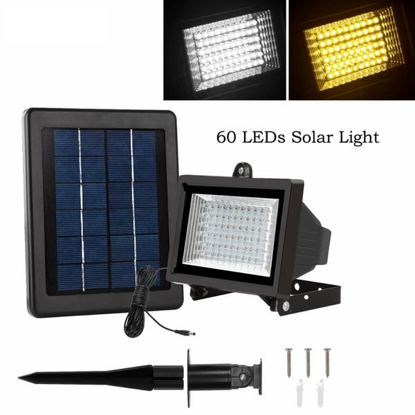 60 LED Solar Light Outdoor Security Floodlight 300 Lumen Weatherproof Auto-induction Solar Flood Light for Lawn Garden