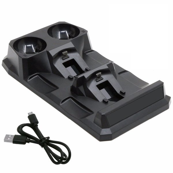 vendita calda PS4 4 in 1 Quad PS 4 Stazione di ricarica Dock Stand per Sony Playstation 4 PS4 Slim Pro PS Controller di spostamento Caricabatterie