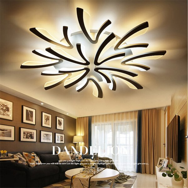 best service 2e25c 51f75 2019 Acrylic Modern Led Ceiling Light Dimmer Ceiling Lamps Remote Dimmable  Alloy Lighting LED Light Fixture For Bedroom Dinning Room From Ok360, ...