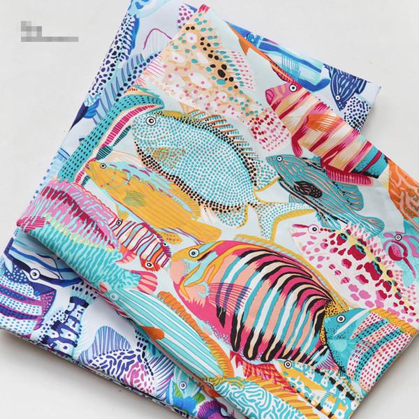 150x100 cm 2 Renkler Balık Her Türlü Bohemian Kumaş Tuval Pamuklu Kumaş Kanepe Dekor Malzeme için Yüksek Kaliteli Masa Örtüsü
