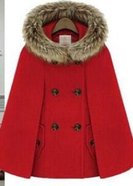 2018 new fashion design hot sale women's lady of vintage England cape fur tie hat cape fur coat