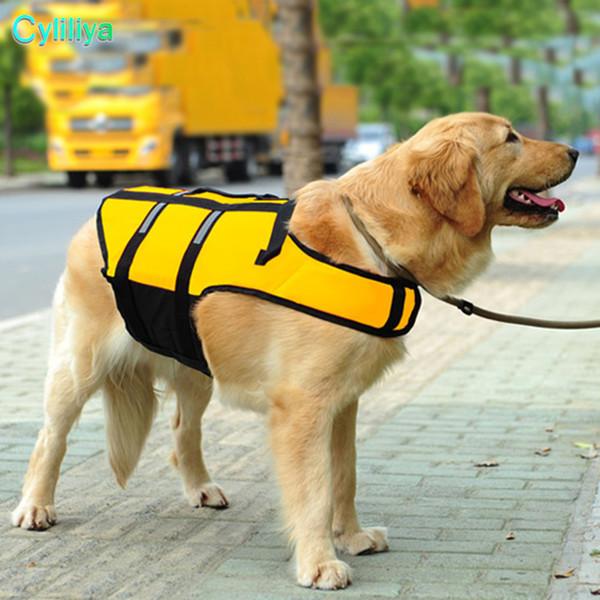 2018 Dog Saver Life Jacket Reflective Pet Preserver Multi-size Aquatic Safety Vest 50pcs/lot