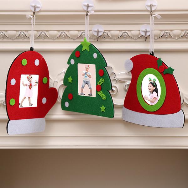 Neujahr Dekor Weihnachten Bilderrahmen Bild Halter Vlies Bild Bilderrahmen Schnalle Wandkunst Hängende Dekoration C2