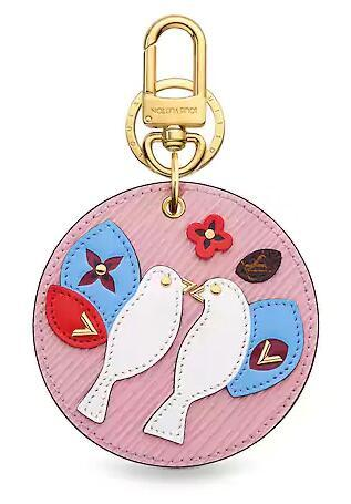 BIRDS ROUND BAG CHARM AND KEY HOLDER Women CHARMS MORE KEY HOLDERS BAG TAPAGE BAG CHARM