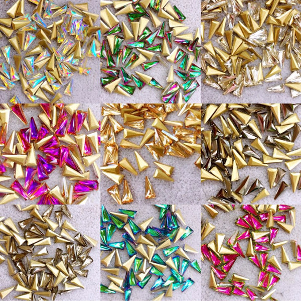New Design 50pcs e Nail Crystals for Nail Art Rhinestones Decorations 3D Nails Charms Stone Jewel Manicure Accessories
