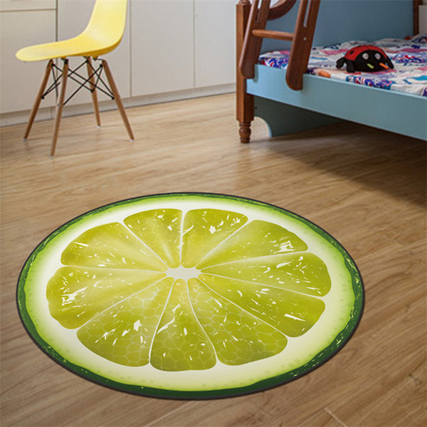 Lovely Cartoon Circular Carpet Living Room Yoga Mat Basket Swivel Chair Stool Computer Cushion Carpet Bedroom Rugs For Kitchen Floor Carpet