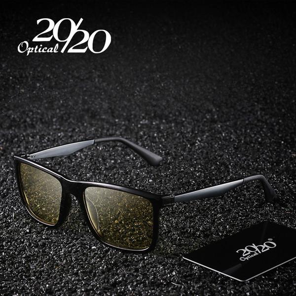 28d168f640fb7 20 20 dos homens novos marca óculos polarizados visão noturna lente amarela  óculos masculinos noite