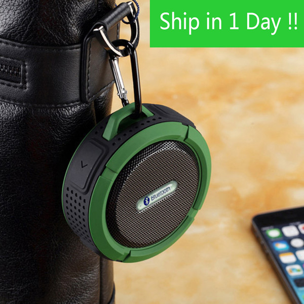 best selling C6 Outdoor Sports Shower Portable Waterproof Wireless Bluetooth Speaker Suction Cup Handsfree MIC Voice Box For iphone 7 iPad PC Phone