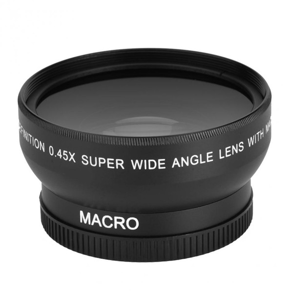 best selling Freeshipping 52mm 0.45x Wide Angle Lens Universal Conversion Macro Lens For Canon For Nikon For Sony DSLR Camera Universal