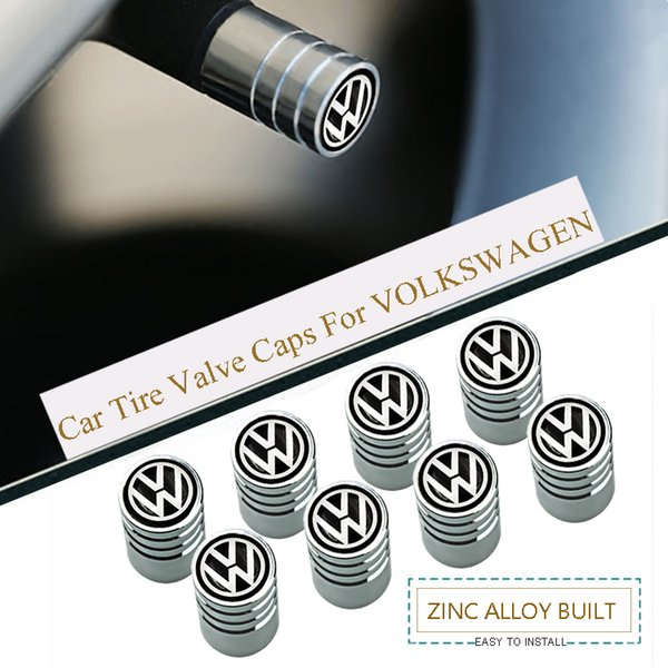 Sport Styling Auto Accessories Car Wheel Tire Valve Caps Case For VW Golf Passat Polo Jetta Tiguan Touareg ect. (4Piece/set)