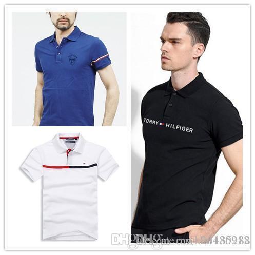 2018 arrival Tees designer Embroidery logo t shirt for men Luxury brand cotton high quality short sleeve o-neck clothing poloshirt camisetas