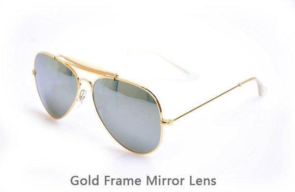 Gold Frame-Spiegel-Objektiv