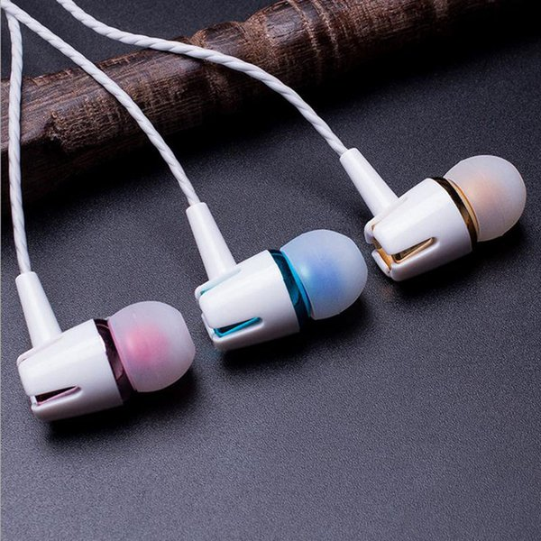 2018The New Universal Direct Plug Earphone Double Bass Wired Headset Bring Headphones With A Cell Phone