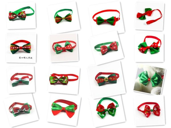 100pc/lot Christmas Holiday Dog Bow Ties Cute Neckties Collar Pet Puppy Dog Cat Ties Accessories Grooming Supplies