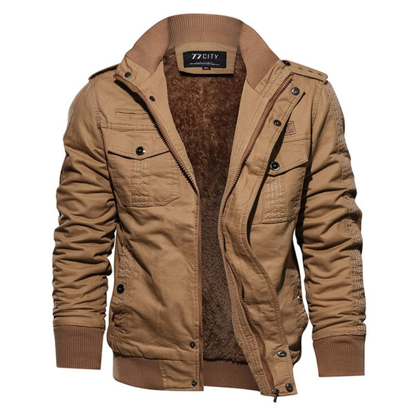 Winter Warm Tactical Military Jacket Men Air Force Pilot Cargo Army Coat Thermal Thicken Wool Liner Cotton Jackets