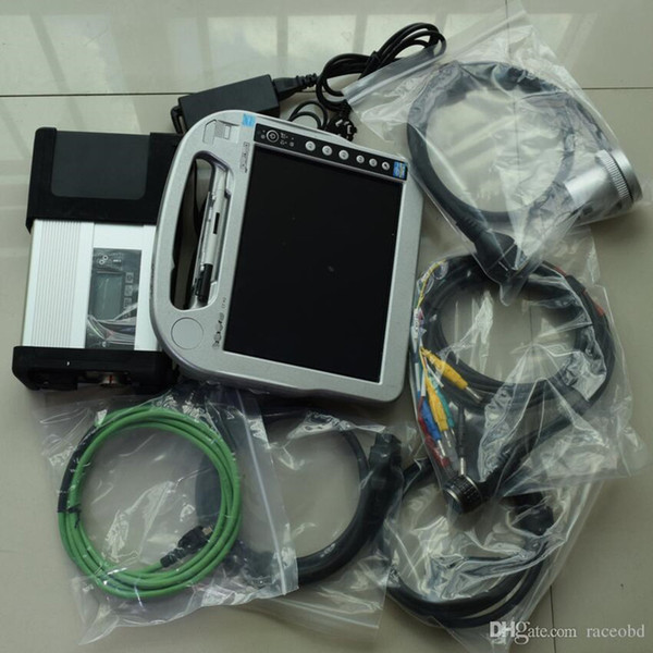 super for mb star c5 diagnostic tool with laptop cf-h2 i5 4g touch screen newest windows7 hdd 320gb ready to use
