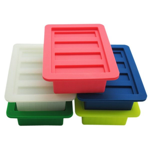 Butter Mold Portable Rectangle Silicone Box Soap Muffin Brownie Cornbread Cheese Cake Pudding Mould Kitchen Tool Pure Color 25bs bb