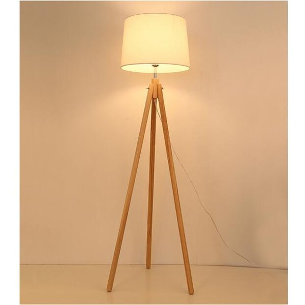 pretty nice f7ef9 6d623 2019 SVITZ Nordic Style Wood Tripod Floor Lamp For Reading Room Hotel Room  E27 Led Three Legged Stent Standing Lamp Wood Study Floor Light From ...