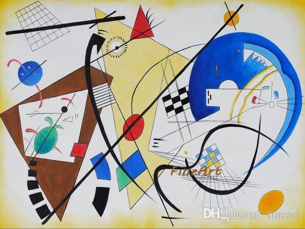 100% handpainted Wassily Kandinsky absract painting reproduction artists paintings art deco oil painting canvas painting ideas home decorat