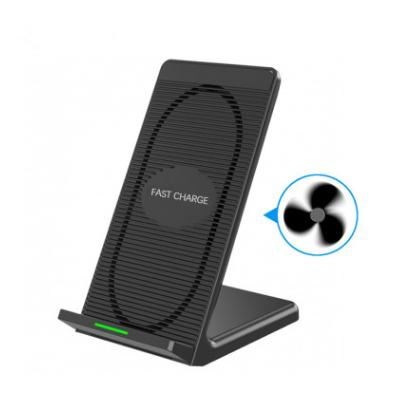 Qi Wireless Charger Fast Charging Pad with Cooling Fan For Samsung Note8 Galaxy s7 Edge s8 mobile pad For iphone X 8 Plus